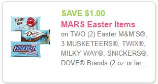 Easter Candy Coupon Print To Save $1.00 On MARS Easter Candy DomesticDivasCoupons