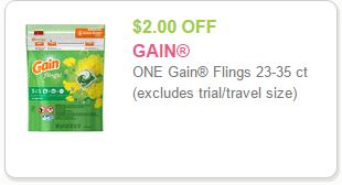 Gain Coupon Save $2.00 On One Gain Flings