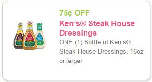 Kens Steak House Dressing Coupon Print Coupon To Save $0.75 DomesticDivasCoupons