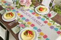 NEW-Spring Tulip Table Runner DomesticDivasCoupons