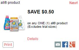 New All Detergent Coupon Save $0.50 Dom esticDivasCoupons