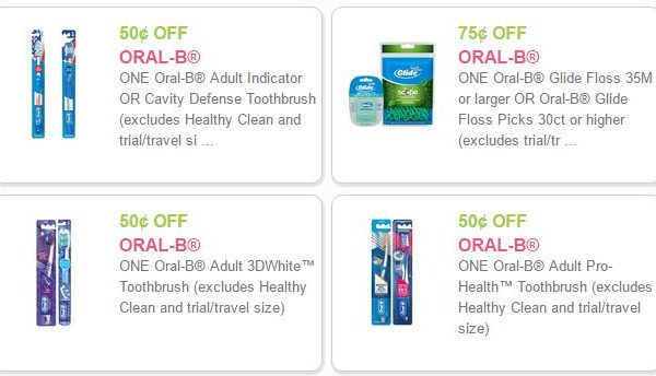 Oral B Coupons-4 Oral B Coupons Save $2.25 DomesticDivasCoupons
