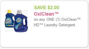 OxiClean Coupon Save $2.00 Off One OxiClean HD Laundry Detergent DomesticDivasCoupons
