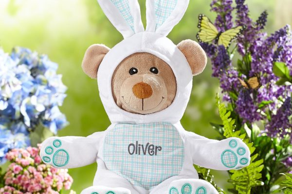 Personalized Adorable Easter Bunny Bear! DomesticDivasCoupons