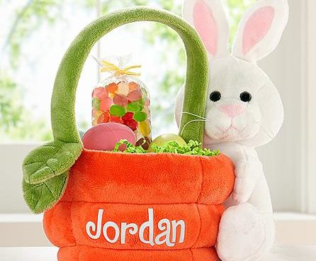 Personalized Bunny Easter Basket Domestic Divas Coupons