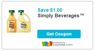 Printable Coupons $1.00 Off One Simply Beverages