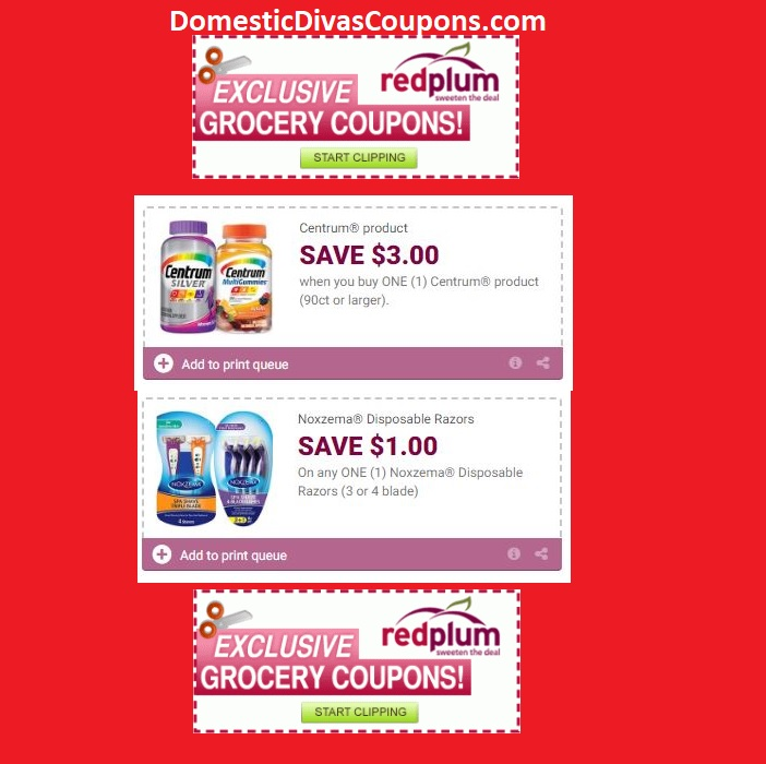 Redplum Coupons Printable Coupons Domestic Divas Coupons