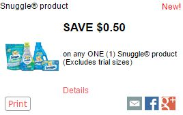 Snuggle Coupon-Print Snuggle Coupon To Save $0.50 Domestic Divas Coupons