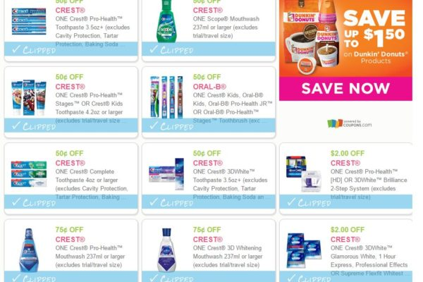 10 NEW Printable Crest Coupons! DomesticDivasCoupons