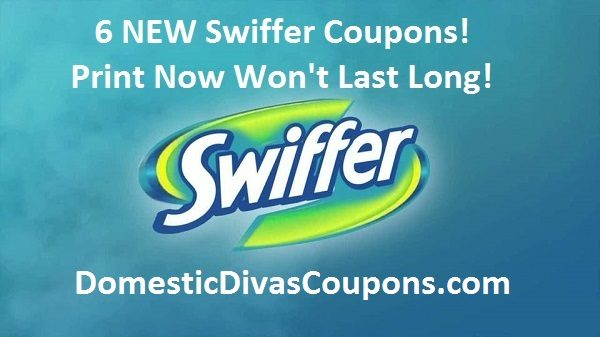 6 New Swiffer Coupons-Print Now DomesticDivasCoupons