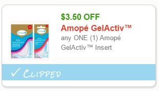 Amope GelActiv Insert Coupon Save $3.50