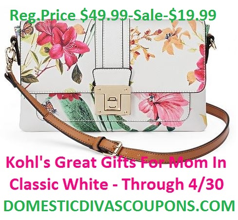 Kohl's Great Gifts for Mom in Classic White - Through DomesticDivasCoupons