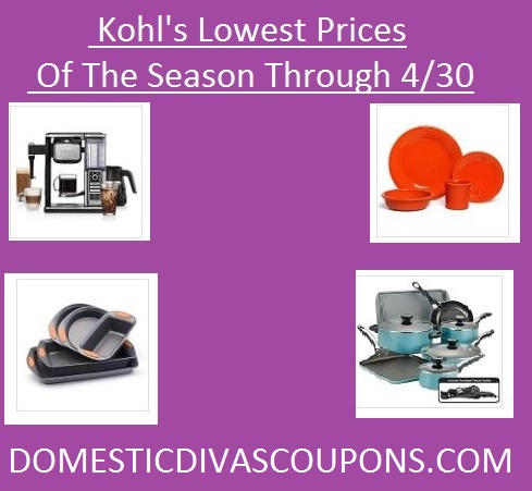 Kohl's Lowest Prices of the Season DomesticDivasCoupons