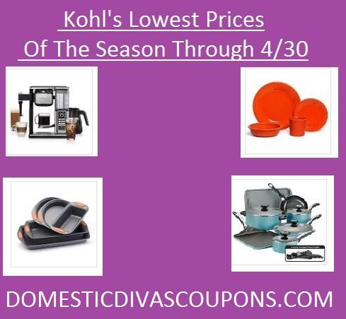 Kohl's Lowest Prices of the Season DomesticDivasCoupons