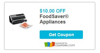 New Coupon $10.00 Off one FoodSaver Appliances