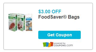 New FoodSaver Bags Coupon Save $3.00!