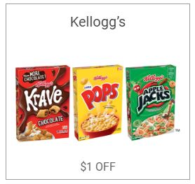 Printable Kelloggs Cereal Coupon Save $1.00 On 2