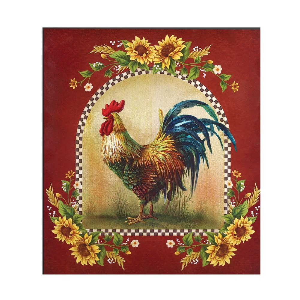 Sunflower And Rooster Country Dishwasher Magnet DomesticDivasCoupons
