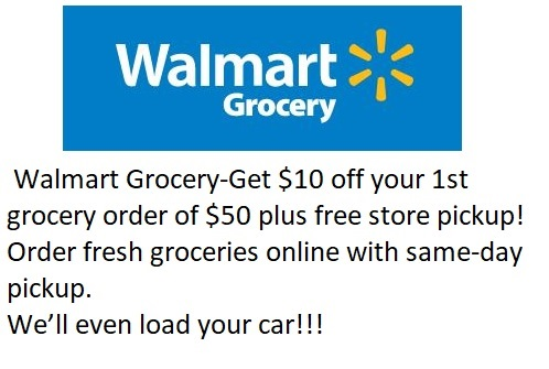 Walmart Grocery Get $10 Off Your First Grocery Order DomesticDivasCoupons