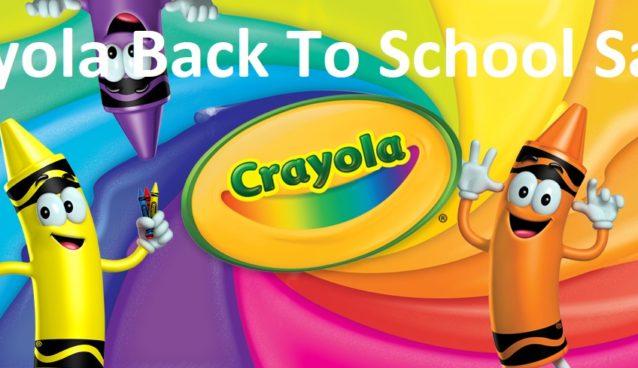 Crayola Back to School Sale!