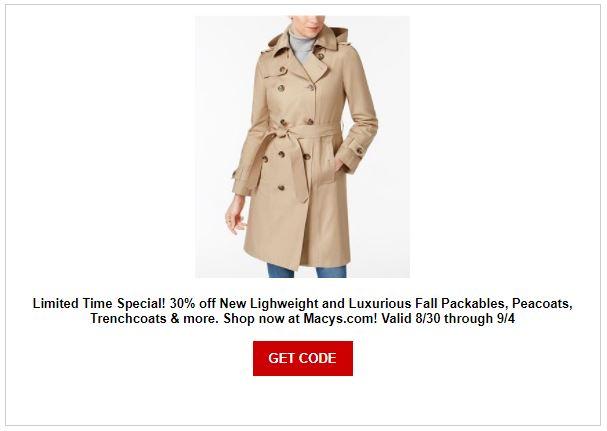 Macy's Coat Sale