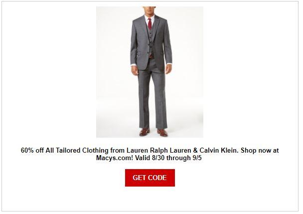 Macy's Men's Suit Sale