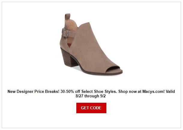 Macy's Shoe Sale