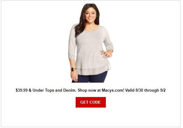 Macy's Top And Denim Sale