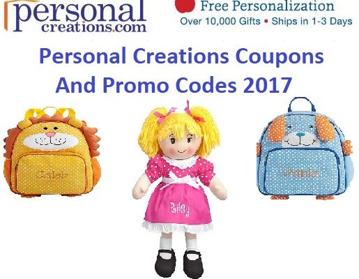 Personal creations coupon code radio