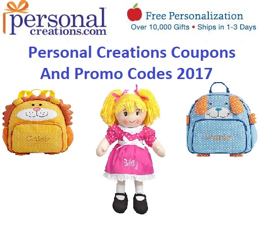Coupon code personalized presents