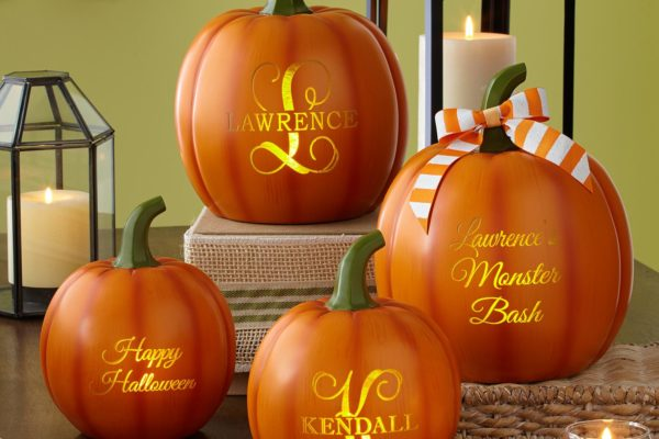 Personalized Light Up Text Pumpkin Family Domestic Divas Coupons