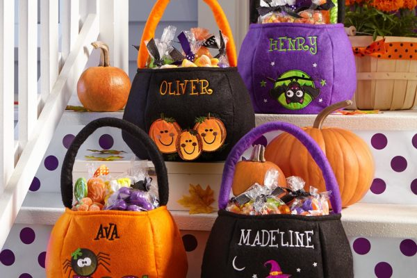 Reflective Personalized Halloween Treat Bags-NEW! Domestic Divas Coupons