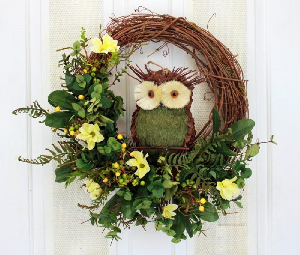 The Wise Owl Grapevine Owl Wreath Domestic Divas Coupons