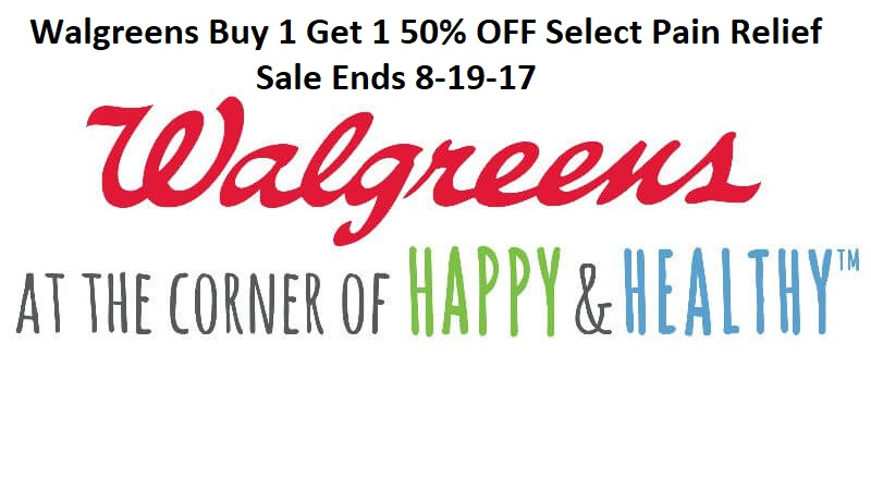 Walgreens Buy 1 Get 1 50% OFF Select Pain Relief Domestic Divas Coupons