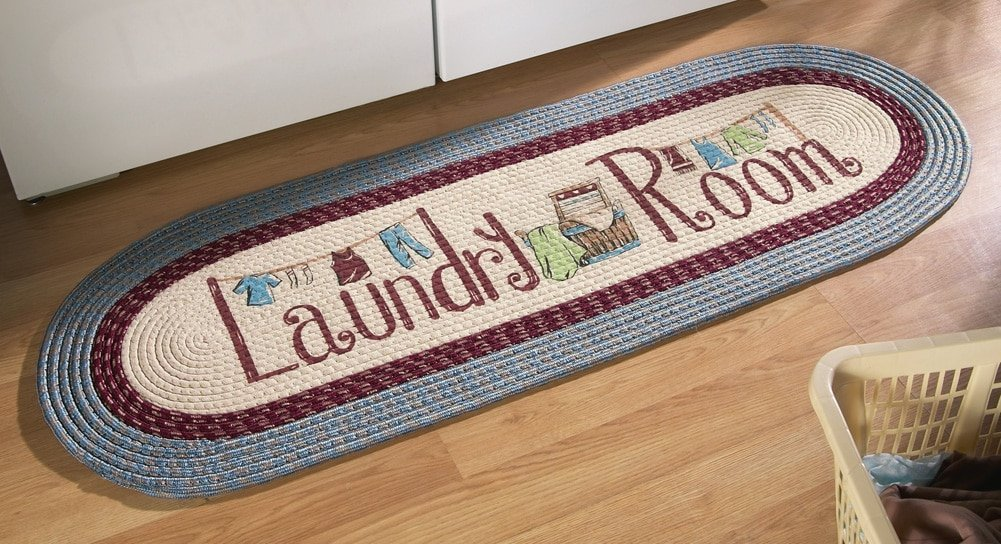 Braided Laundry Room Floor Runner Rug, Blue Domestic Divas Coupons