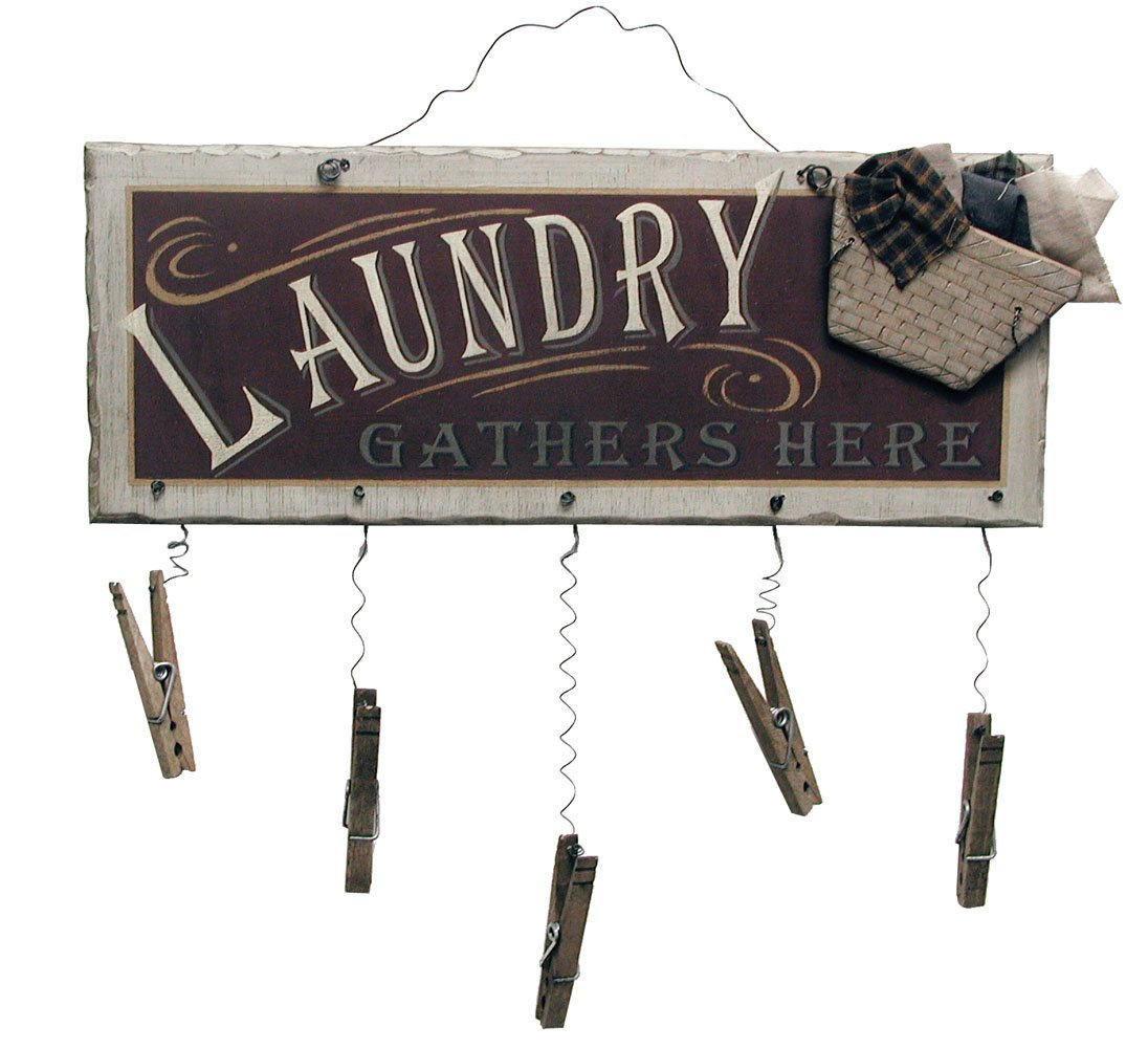 Clothespin Laundry Sign Wall Art Domestic Divas Coupons
