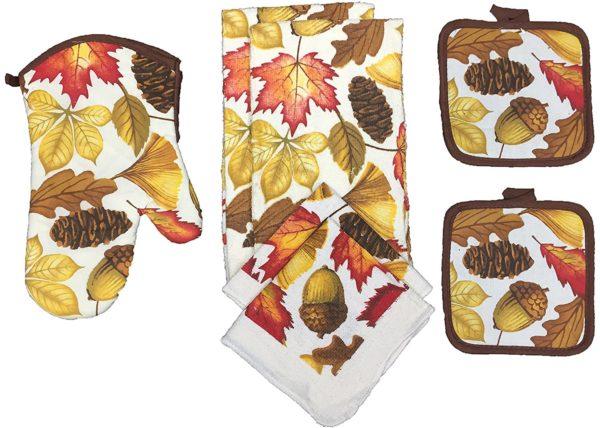Kitchen Towel Set Acorns
