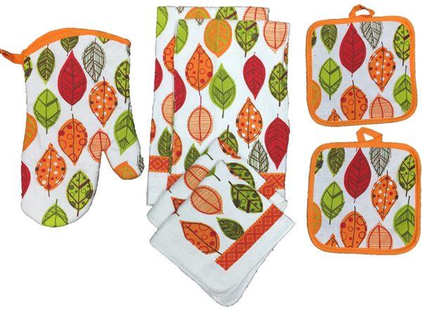 Kitchen Towel Set Leaves