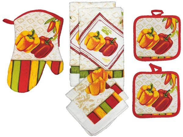 Kitchen Towels Peppers