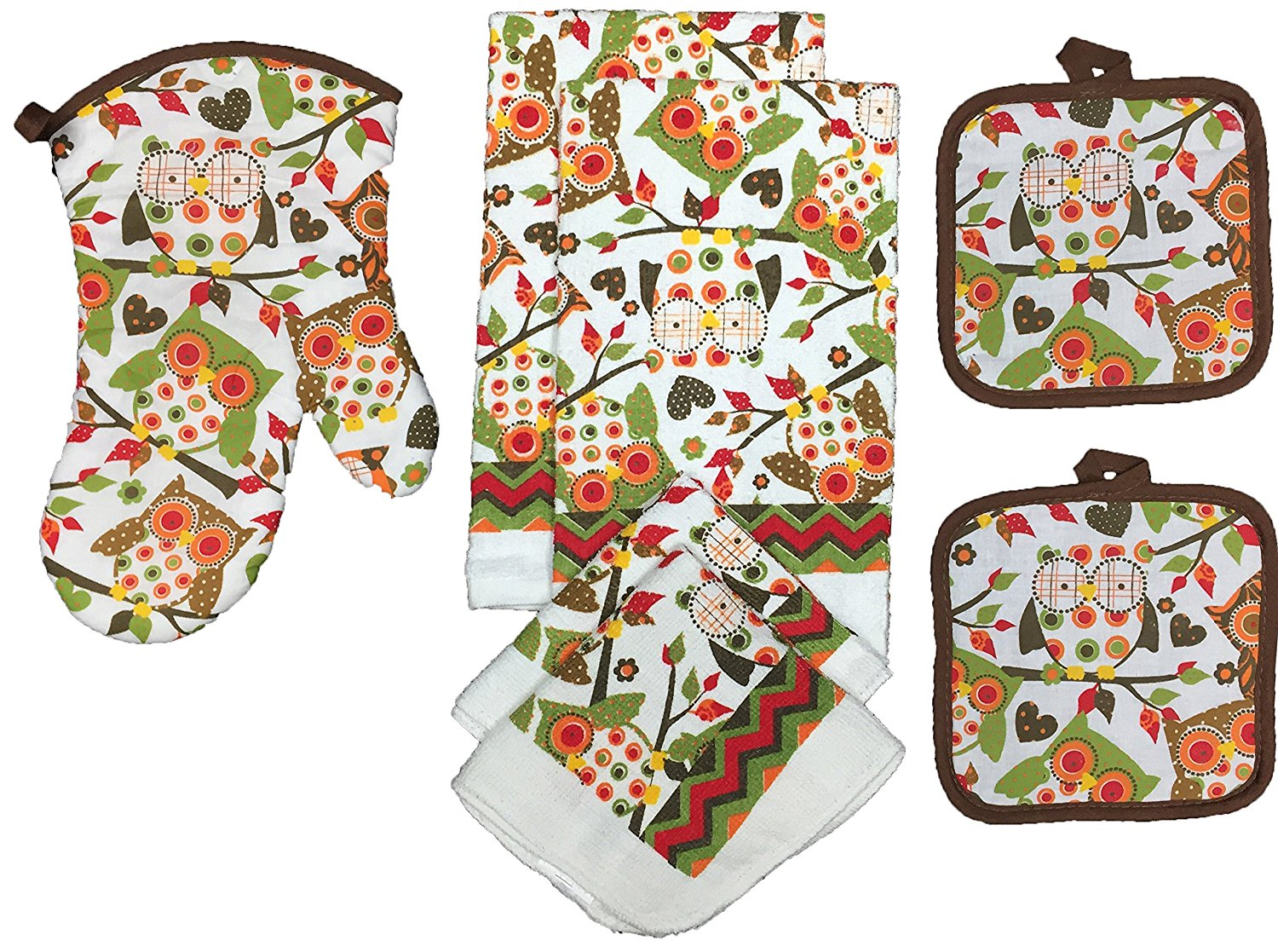 Owl Kitchen Towel Set-Great For Fall-Set Of 7 DomesticDivasCoupons