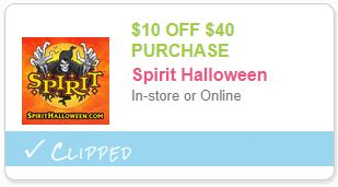 Spirit Halloween Coupon $10 off $40 Purchase In-Store Or Online