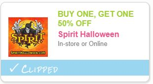 Spirit Halloween Coupon  Buy One Get One 50% Off In Store Or Online