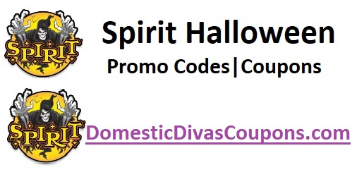 Spirit Halloween Promo Codes Coupons Domestic Divas Coupons