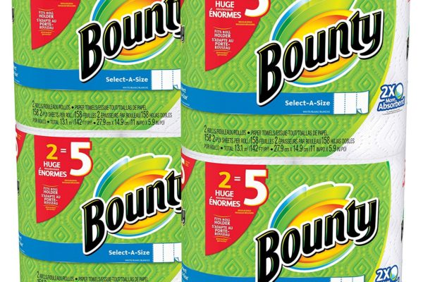 Bounty Select-A-Size Paper Towels-Huge Rolls-8 Ct-$19.96