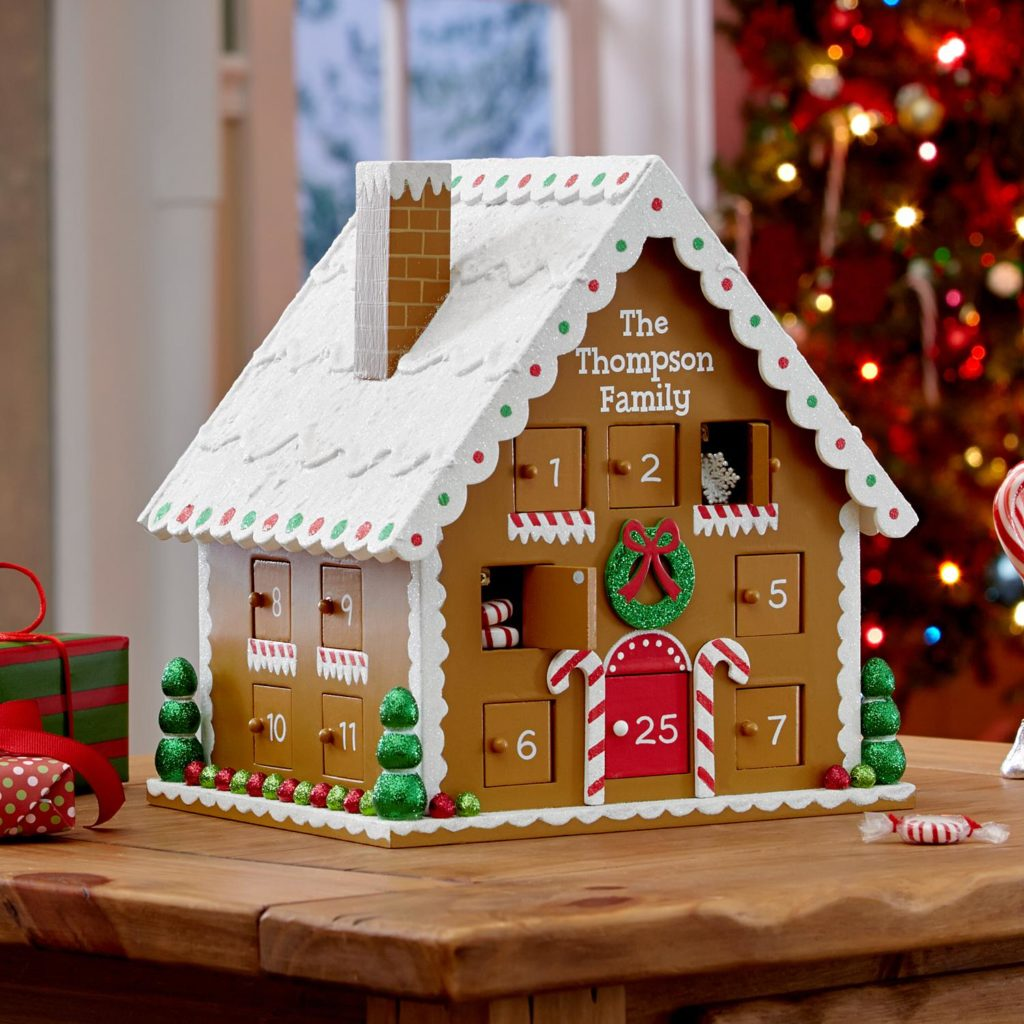 personalized gingerbread house advent calendar