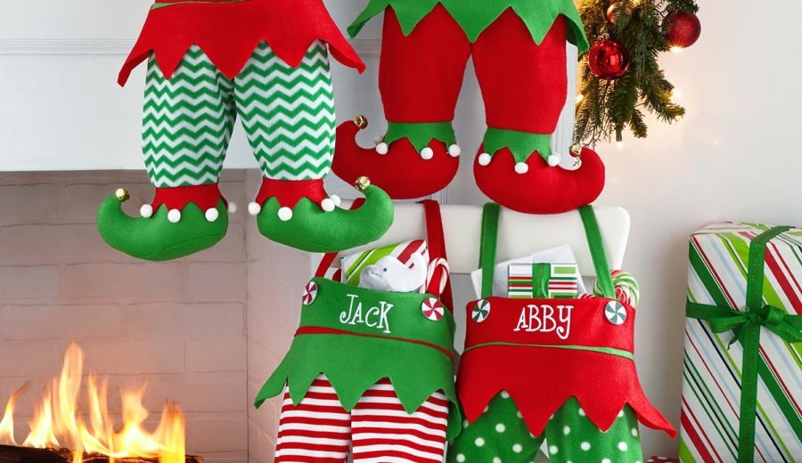 Jingle Bell Elf Pants Personalized Stocking Domestic Divas Coupons
