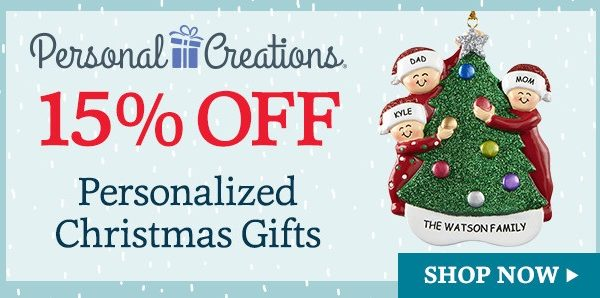Personal Creations 15% Off Christmas Gifts Domestic Divas Coupons