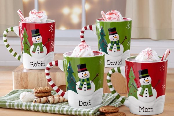 Personalized Smiling Snowman Mugs Domestic Divas Coupons