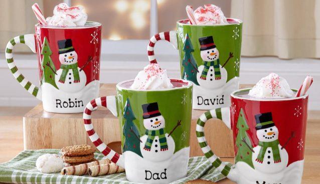PersonalizedSmiling Snowman Mugs Domestic Divas Coupons