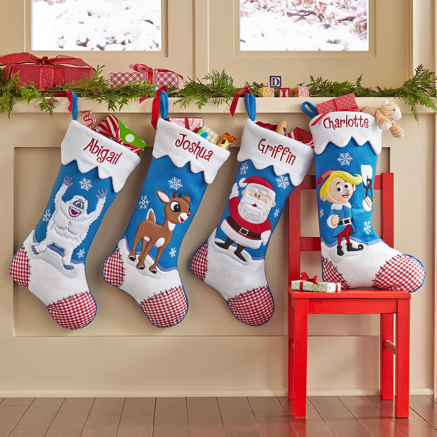 Rudolph Character Personalized Stockings DomesticDivasCoupons